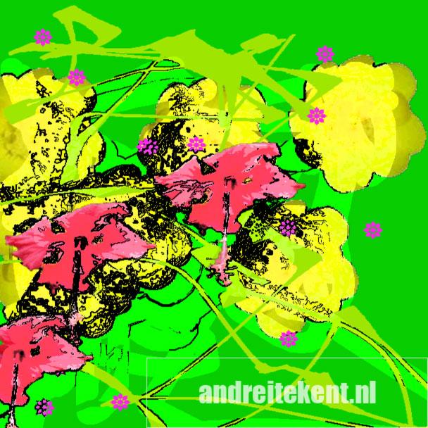 beeld: lentekriebeltekening